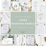 Gold Leaf Greenery Large Wedding Bundle