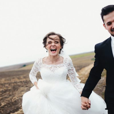perfect wedding day bride and groom