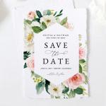 Blush Rose Wedding Save the Date