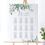 Greenery Wedding Seating Chart Template